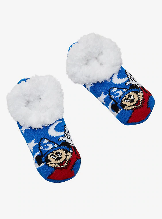 Buy Disney Fantasia Sorcerer Mickey Cozy Slippers – BoxLunch Exclusive on PriceBreaks.com