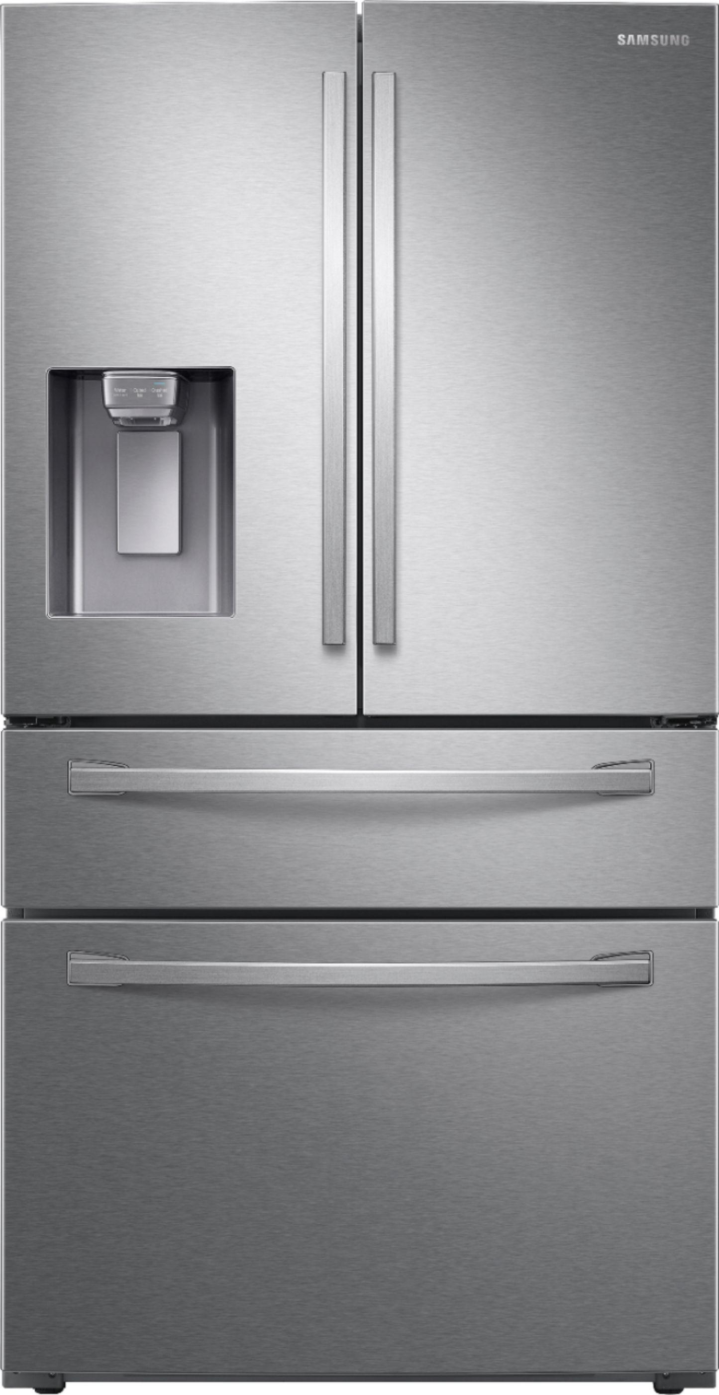 Buy Samsung – 28 cu. ft. 4-Door French Door Fingerprint Resistant Refrigerator with FlexZone™ Drawer – Stainless steel on PriceBreaks.com