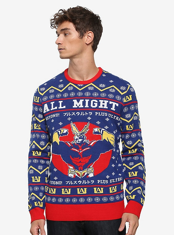 Buy My Hero Academia All Might Ugly Holiday Sweater – BoxLunch Exclusive on PriceBreaks.com