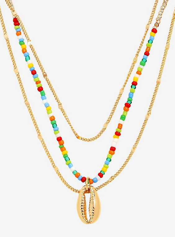 Buy Shell Rainbow Layered Necklace – BoxLunch Exclusive on PriceBreaks.com